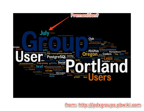 pdx group tag cloud