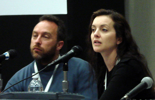 Dawn Foster and Jimmy Wales